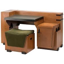 desk with matching stool in a modernistic dutch colonial style