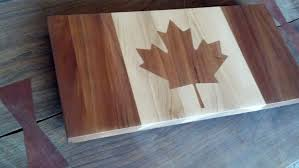 Canadian Flag Lingerie Canadian Flag Cutting Board