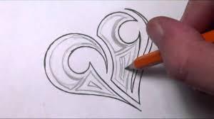 drawing a simple tribal maori heart tattoo design youtube