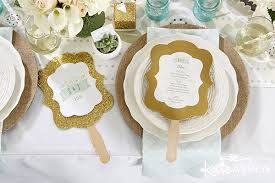 Rustic Wedding Program Fans Color Inspiration Go Greige Kate Aspen Blog