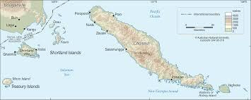 Solomon Islands Map Choiseul And Shortland Islands Cartogis Services Maps Online Anu