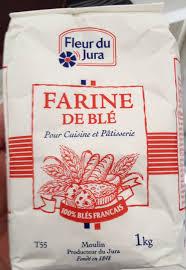 produit cuisine farine de blé pour cuisine et pâtisserie fleur du jura 1kg