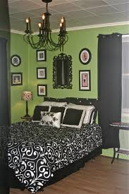 Green Colored Rooms Charming Lime Green Upholstered Queen Bed With Cube Wall Mirror