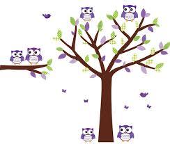 Owl Wall Decals Nursery by Amazon Com Owl Wall Stickers Purple And Green Owl Decal Nursery