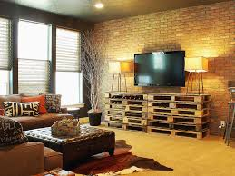 Living Room Pallet Table Decorative Brick Wall Design For Your Interior 23735 Interior Ideas