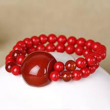 red beads bracelet images Kyszdl fashion red cinnabar bracelet fashion men and women red jpg