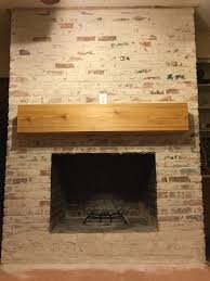 How To Update Brick Fireplace by How To Paint A Brick Fireplace With A Weathered Look Brick