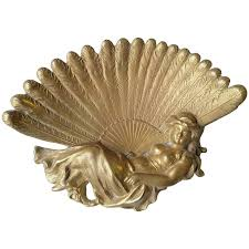 peacock fan nouveau with a peacock fan brass vanity pin tray for