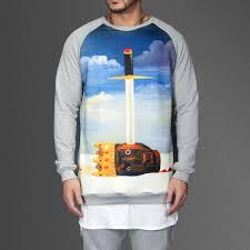 twisted fantasy raglan sweatshirt wehustle menswear