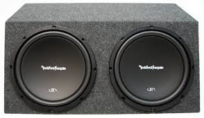 rockford fosgate dual 12 lified loaded subwoofer box w two