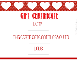 valentine gift certificate template image collections templates