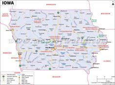 iowa map with cities ohio map showing the major travel attractions including cities
