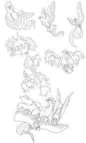 legendary bird lineart by kitsune dragonite on deviantart