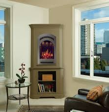 creative tall corner electric fireplace modern rooms colorful