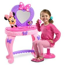 Little Girls Vanity Playset Disney Minnie U0027s Bowdazzling Vanity Walmart Com