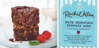 intensly rich dark chocolate brownie cake with tangy raspberries