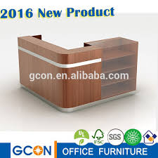 Reception Desk With Display Wooden Reception Counter Glass Display Reception Desk Display