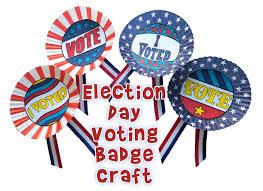 election day craft for kids make voting badges woo jr kids