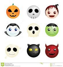 Happy Halloween Icons Halloween Characters Icons Stock Photo Image 26291760