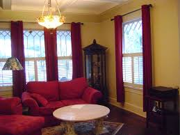 interior plantation shutters curtains with patterned padded