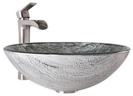 Bathroom Sink Set Vigo Titanium Glass Vessel Bathroom Sink And Niko Faucet Set