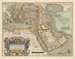 The Middle East Map by Vintage Maps Of The Middle East The Vintage Map Shop Inc