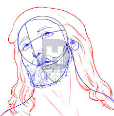 how to draw jesus step by step drawing guide by darkonator