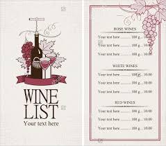 26 wine menu templates u2013 free sample example format download