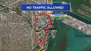Denver Traffic Map Downtown Miami Streets Shutdown For Mercedes Benz Corporate Run