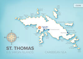 St Thomas Island Map St Thomas Hotelroomsearch Net