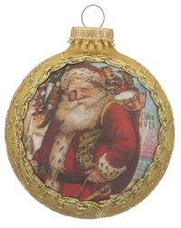 2017 dated santa on silk 1911 santa claus personalized ornament