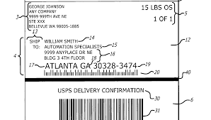 100 international shipping label template commercial