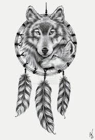 wolf dreamcatcher by decaymyfriend on deviantart lobos