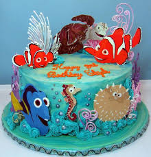 nemo cake toppers nemo themed birthday cake cakecentralcom creative ideas