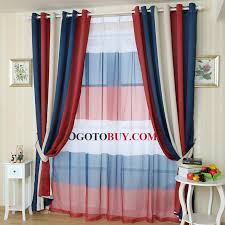 Blue And Red Striped Curtains Casual Style Navy And Red Stripe Curtain Panels Thermal Curtains