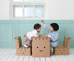 Diy Kid Desk Recyclable Diy Desk And Chair Set Brings Smiles To Study Time