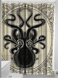 killer kraken octopus shower curtain by sourpuss clothing bathe