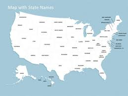 in us map us map ppt template