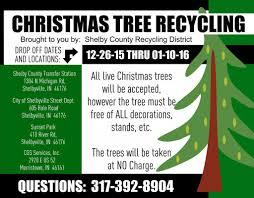 christmas tree recycling shelbyvilletoday