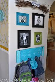 make a personalized entryway backpack hook board