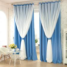 Blue Window Curtains by Decoration Window Treatment With Window Drapes And White Blue