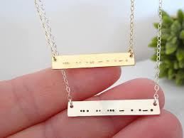 morse code necklace personalized morse code necklace secret code necklace personalized name