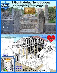 first century synagogue top plans gush halav gischala 78 bc
