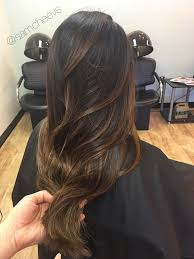 best hair color for a hispanic with roots brown warm caramel honey chocolate balayage highlights for dark