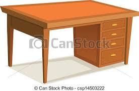 bureau dessin dessin animé bureau bureau bureau bois isolé illustration