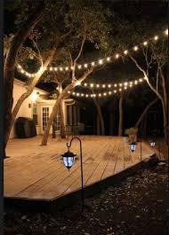 deck string lighting ideas backyard with lights best 25 backyard string lights ideas on