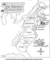 colonial america map colonial america 4th grade