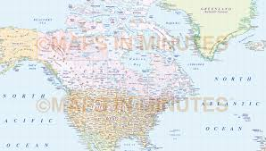 Baffin Bay On World Map by Vector World Map America Centric Political Gall Projection With