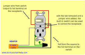 switch receptacle combo wiring diagram wiring diagrams