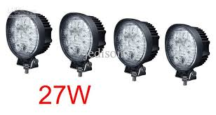 led security light bar 27w round led light bars boat truck caravan 4x4 deck 12v 24v flood